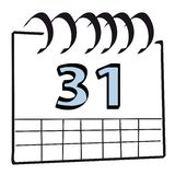 De kalender van de muur Stock Foto's