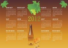 De kalender van de wijn Stock Afbeelding