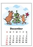De kalender van december 2018 royalty-vrije illustratie