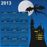 De kalender van Fairytale voor 2013 Stock Afbeeldingen