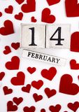 14 de Kalender van februari Stock Foto's