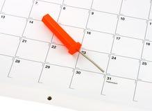 De Kalender van Halloween Stock Afbeeldingen
