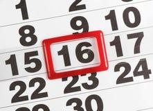 De kalender van het document royalty-vrije stock afbeelding