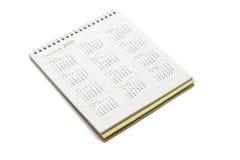 De kalender van het jaar 2010 Stock Afbeeldingen