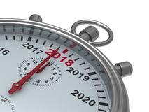 De kalender van het jaar op chronometer 3D Illustratie Stock Afbeelding