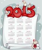 De kalender 2015 van het nieuwjaar Stock Foto