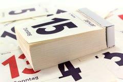 De kalender van het stootkussen Stock Fotografie