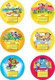 De kalender van kinderen Stock Foto's