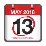 De kalender van de moedersdag Royalty-vrije Stock Afbeeldingen