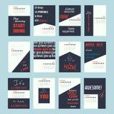 de kalender 2017 van motivatiecitaten vector illustratie