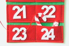 De kalender van de stoffenkomst stock foto's