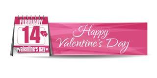 De Kalender van de valentijnskaartendag Stock Foto