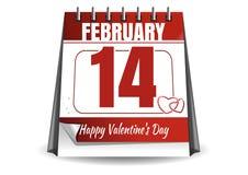 De Kalender van de valentijnskaartendag Stock Afbeelding