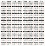 2013-2020 Royalty-vrije Stock Foto's