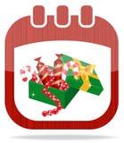 De kalenderKerstmis van het pictogram Stock Foto