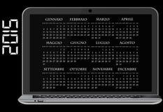 de kalenderlaptop van 2015 Royalty-vrije Stock Foto