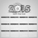 de kalenderontwerp van 2015 Royalty-vrije Stock Afbeelding
