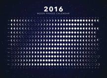 De kalendervector van maanfasen Royalty-vrije Stock Foto's