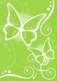 De kalkachtergrond van vlinders stock illustratie