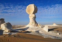 De kalksteenvorming in de woestijn stock foto