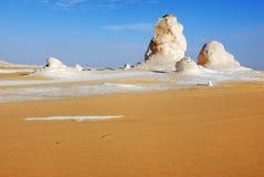 De kalksteenvorming in Witte woestijn sahara Egypte royalty-vrije stock fotografie