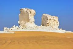 De kalksteenvorming in Witte woestijn sahara Egypte royalty-vrije stock foto