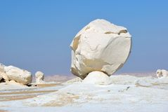 De kalksteenvorming in Witte woestijn sahara Egypte stock foto