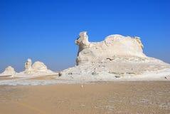 De kalksteenvorming in Witte woestijn sahara Egypte stock afbeeldingen