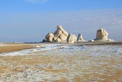 De kalksteenvorming in Witte woestijn sahara Egypte stock fotografie