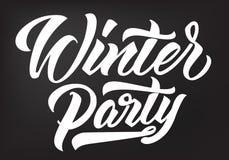 De kalligrafie van de de winterpartij stock illustratie