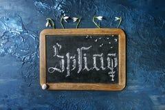 De kalligrafische inschrijvingslente stock foto