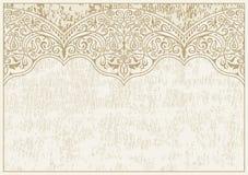 De kalligrafische islam Lijnen van het Ornamentkader Het diner van het huwelijk met gerookt broodjesvlees en tomaten Kaart van de royalty-vrije illustratie