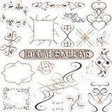 De kalligrafische reeks van het elementen uitstekende ornament. Vector Royalty-vrije Stock Afbeeldingen
