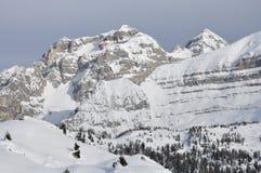De rotsen van de winter Stock Foto's