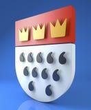 De kam van Keulen, wapenschild, Koelner Wappen Stock Afbeelding