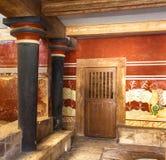 De kamer van de koning van Knossos stock foto