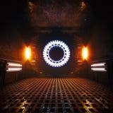 De Kamer van de reactor Alternatieve Energie stock illustratie