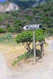De kampeerauto in Sardinige Stock Fotografie