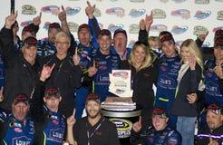 De Kampioen Jimmie Johnson van de Kop van de Sprint NASCAR Stock Foto