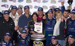 De Kampioen Jimmie Johnson van de Kop van de Sprint NASCAR Royalty-vrije Stock Foto's
