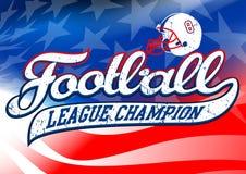 De kampioen van de voetballiga op de vlag van de V.S. royalty-vrije illustratie