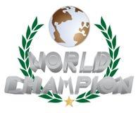 De kampioen van de wereld vector illustratie