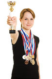 De kampioen van het meisje royalty-vrije stock foto
