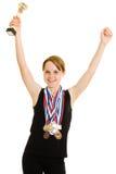 De kampioen van het meisje royalty-vrije stock afbeelding