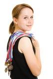 De kampioen van het meisje stock afbeelding