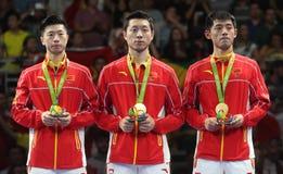 De Kampioen van het teamolymic van China bij de Olympische Spelen in Rio 2016 stock fotografie