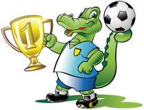De kampioen van het voetbal vector illustratie