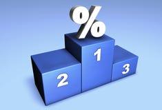 De Kampioenen van percenten Stock Afbeeldingen