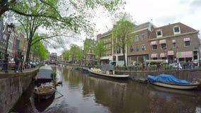 De kanalen van Amsterdam stock video