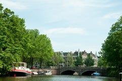 De kanalen van Amsterdam Royalty-vrije Stock Fotografie